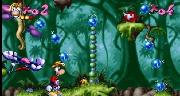 Rayman, the original one: you move left to right and THAT'S IT. Fabulous. My brother and I got extremely competitive and he was way better than me.